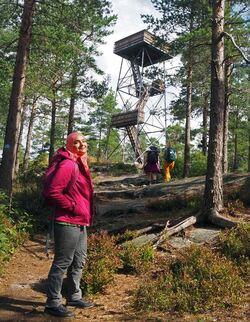 På vei til Kjerringhøgda, snart framme! Foto: Bjarne Røsjø.