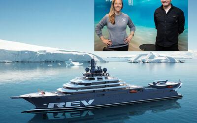 REV Ocean vil ofte befinne seg i områder med ekstremt vær og harde forhold. For Aclima som utvikler ullklær for slik bruk gir dette helt unike muligheter til å teste funksjonalitet og materialer. Bilde innfelt: Nina Jensen (REV O) Ole Magnus Halvorsen (Aclima).