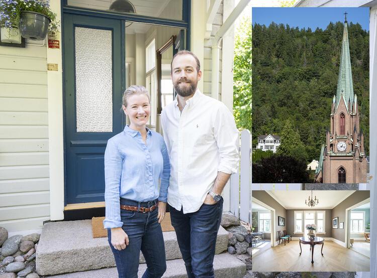 I fjor høst tok Kaja Eid Naustal og Anders Bruusgaard over Villa Winther. Da hadde ikke huset vært omsatt på 70 år. Et drøyt halvår senere har villaen fått nytt liv. FOTO: TORSTEIN BØE/NTB