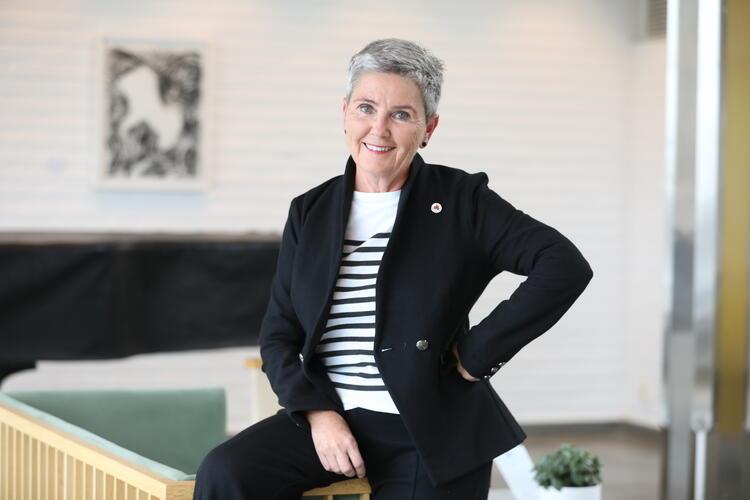 Ny organisasjonsleder i Sanitetskvinnene Marit Bjønstad.