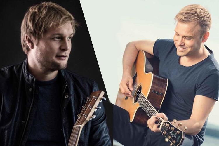 Gaute Ormåsen og Christian Ingebrigtsen er med å markere femårsjubileet til Akustisk i Eiker onsdag 13. oktober.