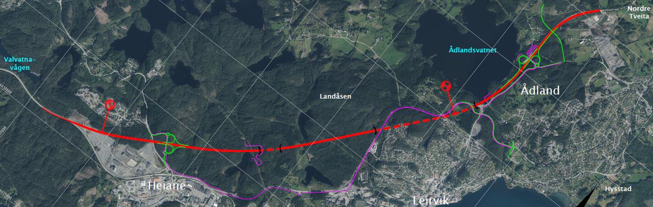 Kommunedelplan for E39 – heiane – Tveita/Nordre Ådland - alternativ 4