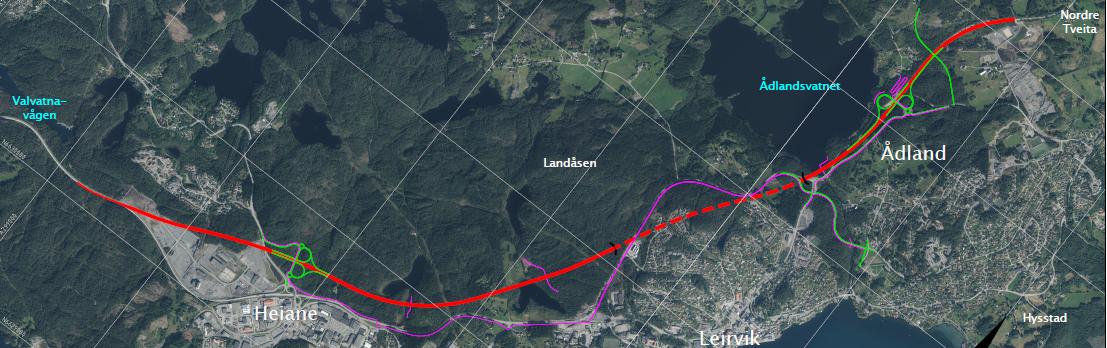 Kommunedelplan for E39 – heiane – Tveita/Nordre Ådland - alternativ 2