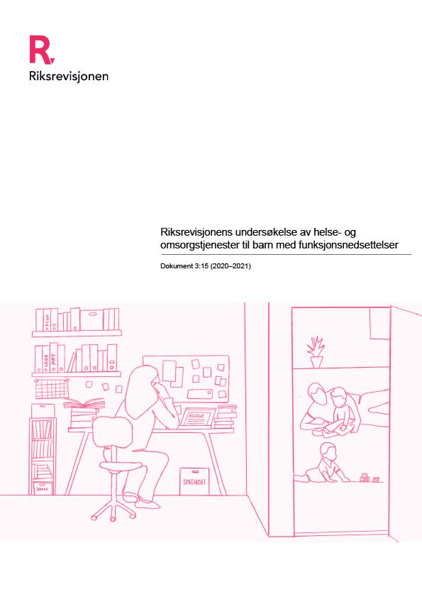Omslagsbilde til Riksrevisjonens undersøkelse av helse- og omsorgstjenester til barn med funksjonsnedsettelser