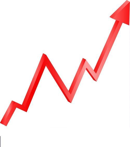 red-arrow-graph-directed-upwards-vector-16834147