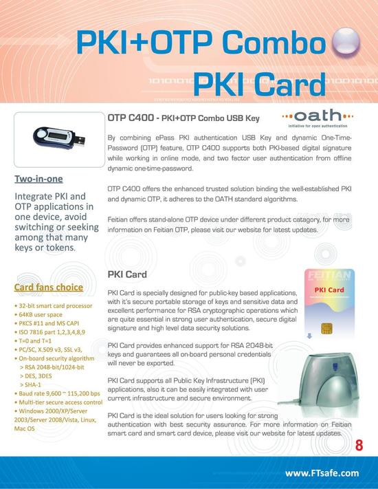 PKI+OTP Combo PKI Card