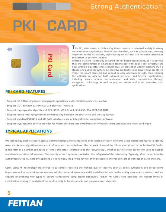 PKI Card Brochure